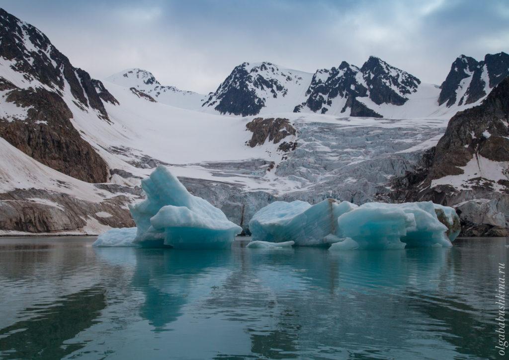 Шпицберген, пейзаж, айсберг