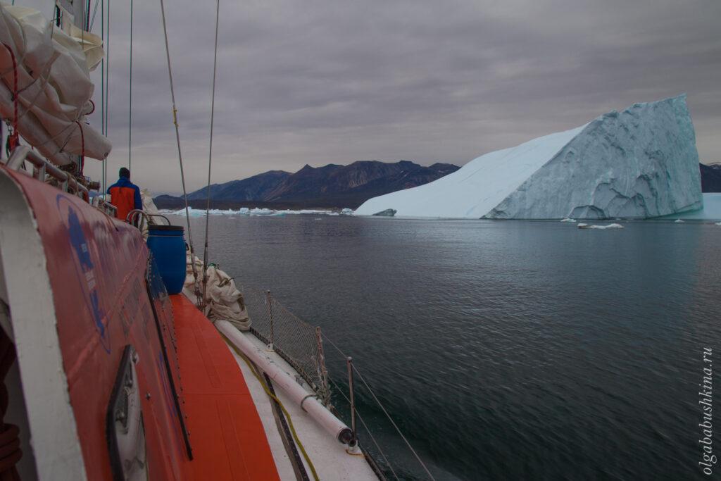 Путешествие на яхте, айсберг